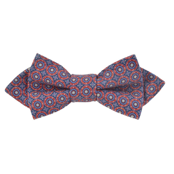 Red With Blue Circles Bow Tie