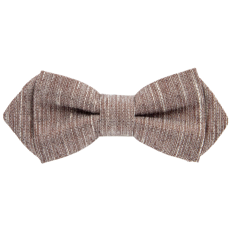 Brown Textured Bow Tie