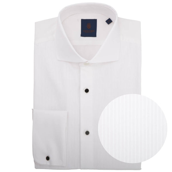 Slim Fit White Poplin Dress Shirt