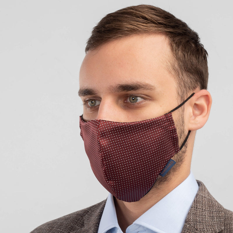 Machine Washable Community Face Mask Satin Bordeaux