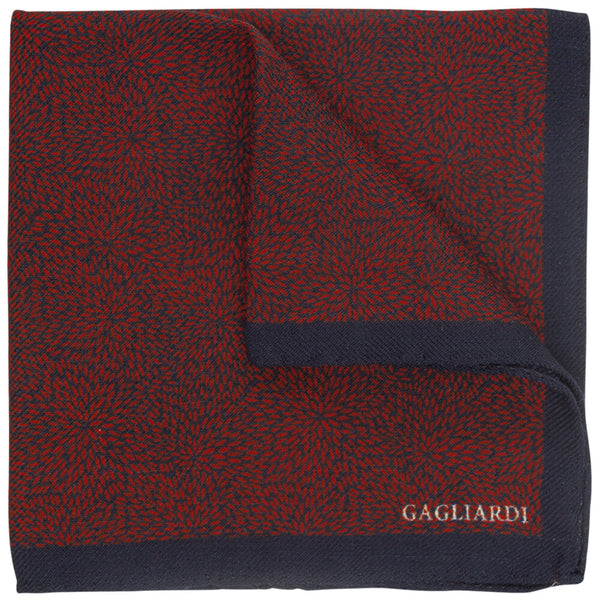 Black With Red Fireworks Pocket Square - Gagliardi