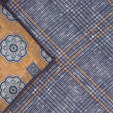 Double Sided Navy Prince Of Wales Check Pocket Square - Gagliardi