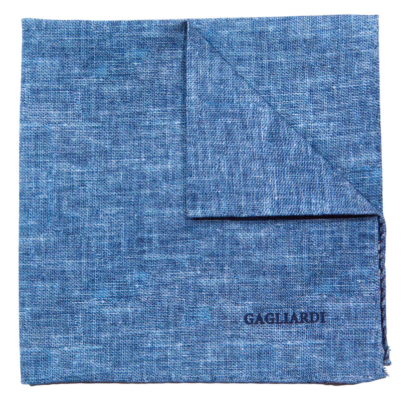 Plain Blue Pocket Square