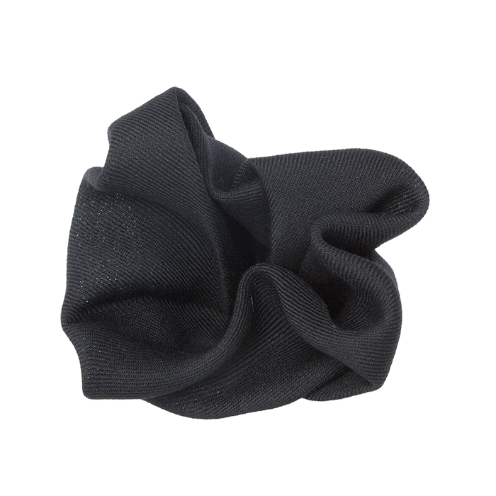Black Twill Wool Pocket Square