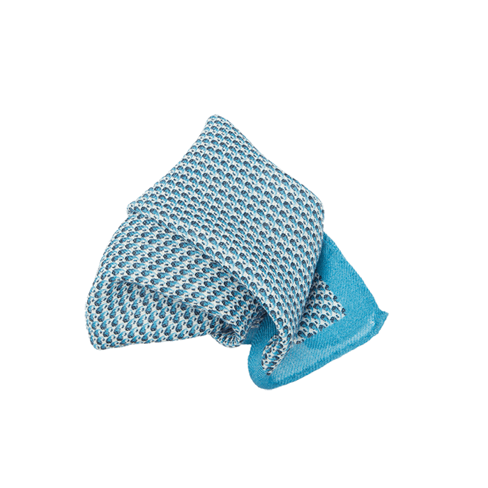 Sky Micro Wool Pocket Square
