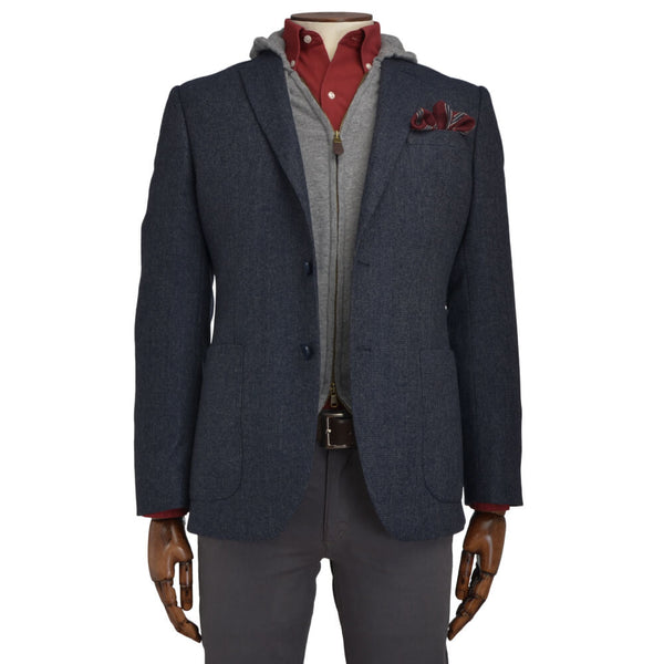 Air Force Blue Textured Jacket - Gagliardi