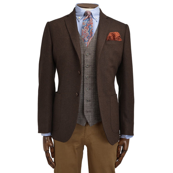 Rust Herringbone Jacket - Gagliardi