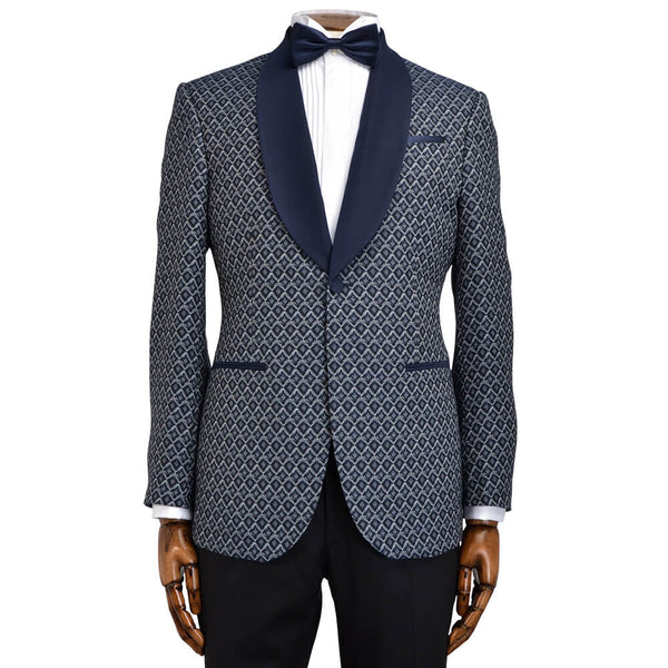 Diamond Jacquard Evening Jacket - Gagliardi