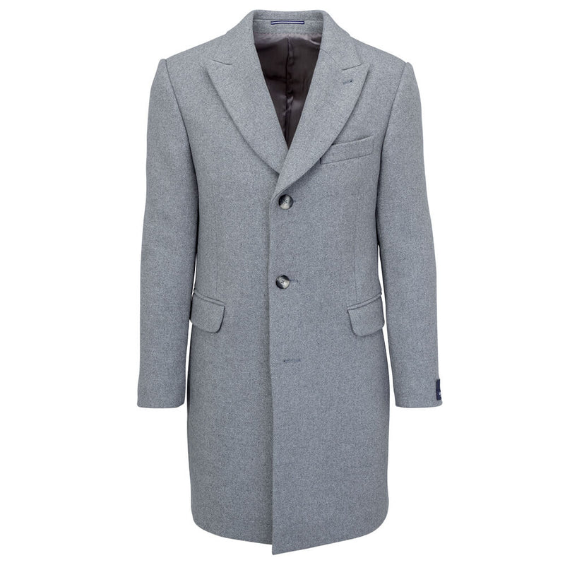 Grey Plain Coat - Gagliardi