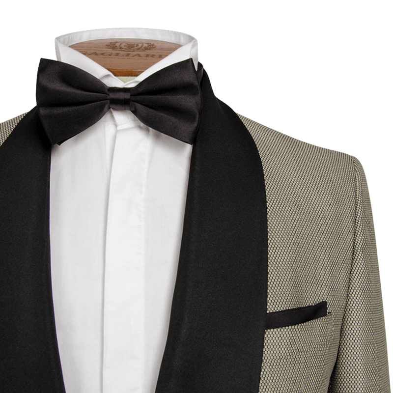 Black and Silver Geometric Weave Dinner Jacket