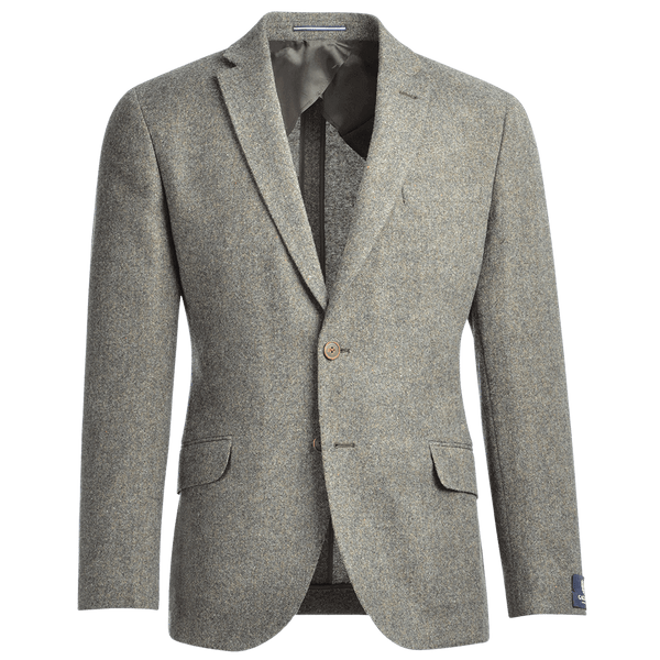 Olive Green Wool Donegal Jacket - Gagliardi