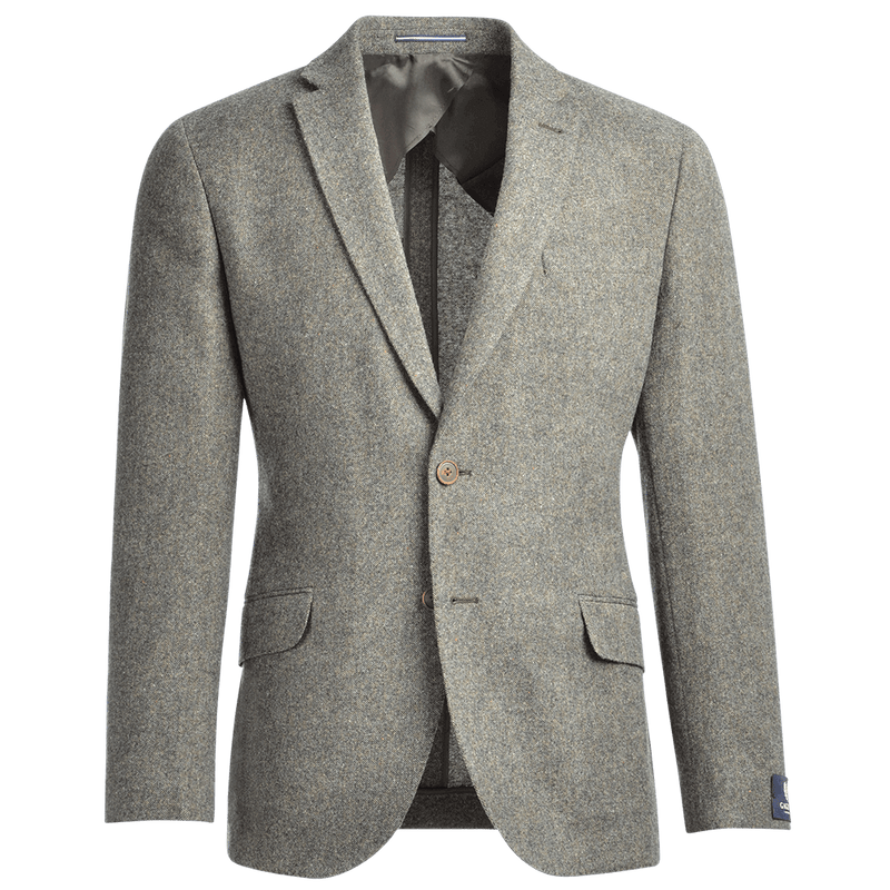 Olive Green Wool Donegal Jacket