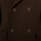 Brown Double Breasted Overcoat - Gagliardi
