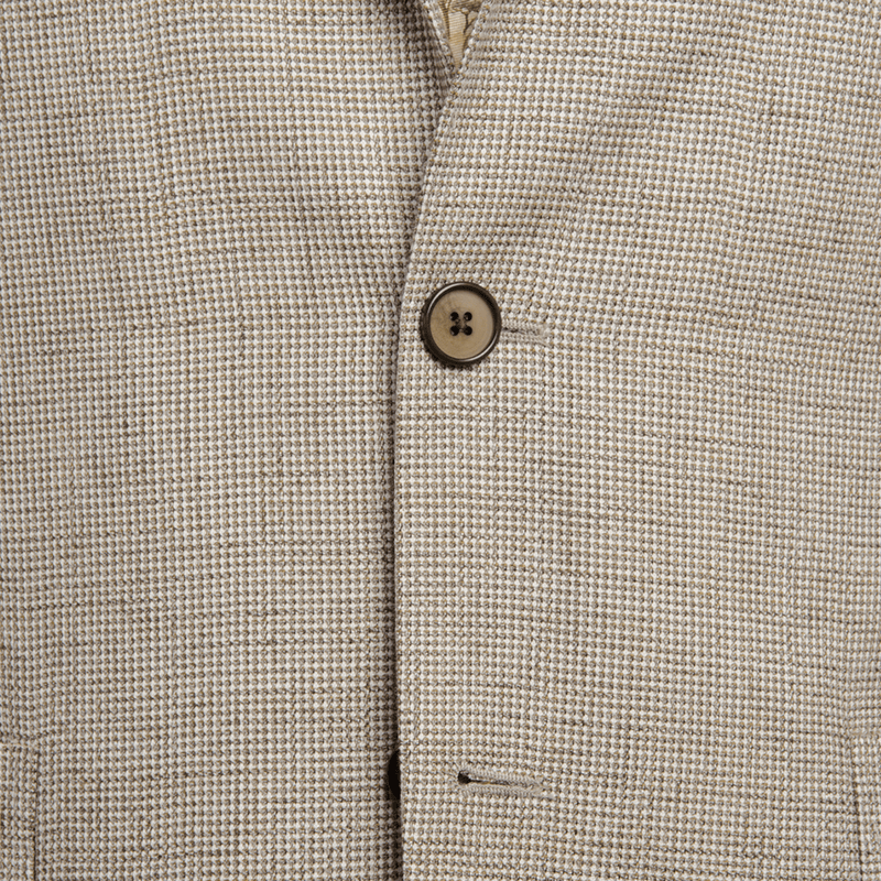 Light Brown Basketweave Jacket