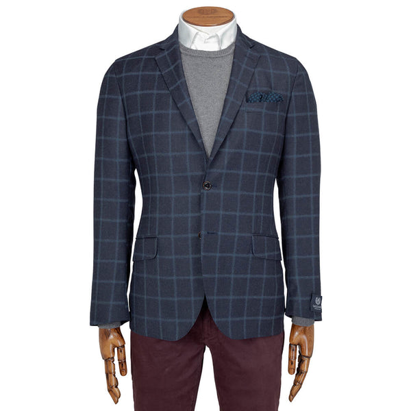 Navy Windowpane Jacket - Gagliardi
