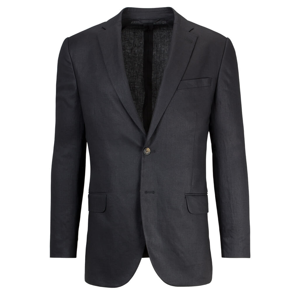 Black Linen Mix & Match Jacket