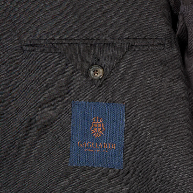 Black Linen Mix & Match Jacket - Gagliardi
