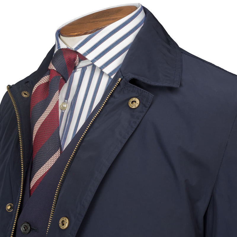Navy Lightweight Raincoat - Gagliardi