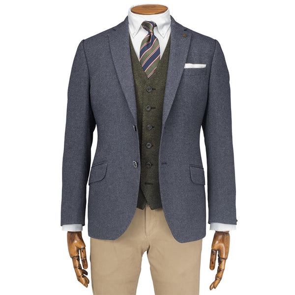 Blue Herringbone Jacket - Gagliardi