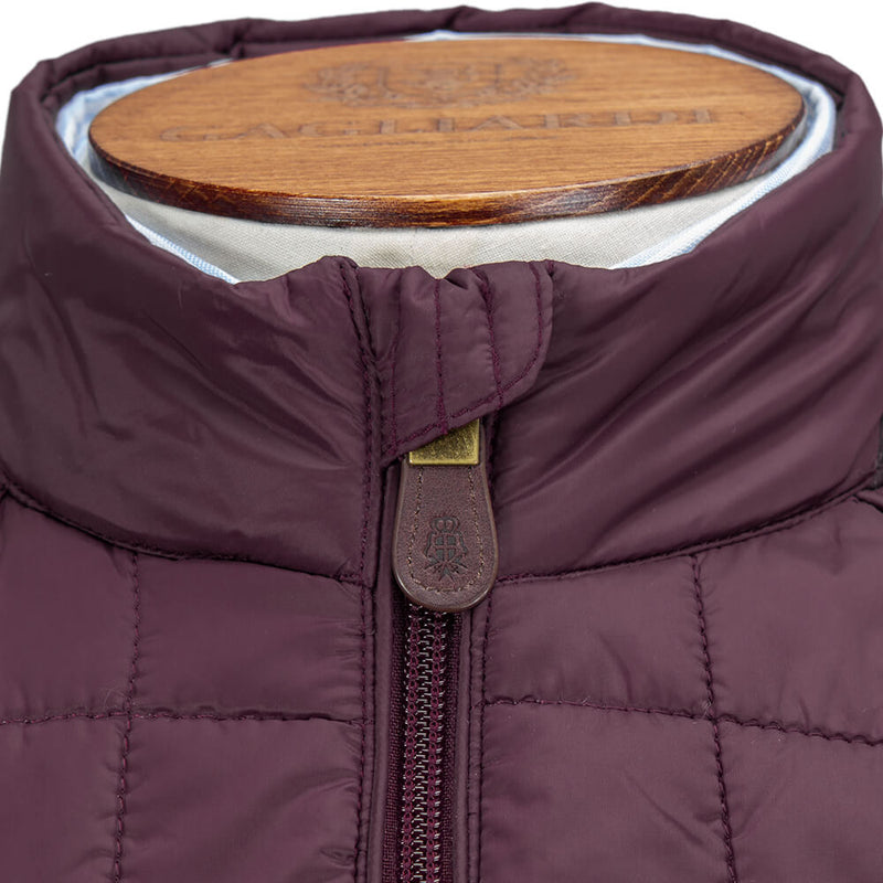 Bordeaux Wadded Gilet Jacket - Gagliardi