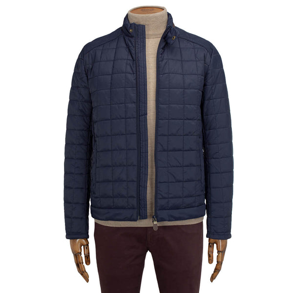 Navy Wadded Jacket - Gagliardi