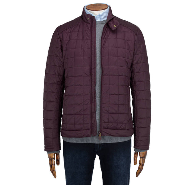 Bordeaux Wadded Jacket - Gagliardi