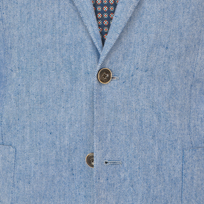 Sky Blue Basketweave Jacket - Gagliardi