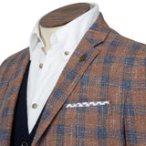 Orange & Navy Check Jacket - Gagliardi
