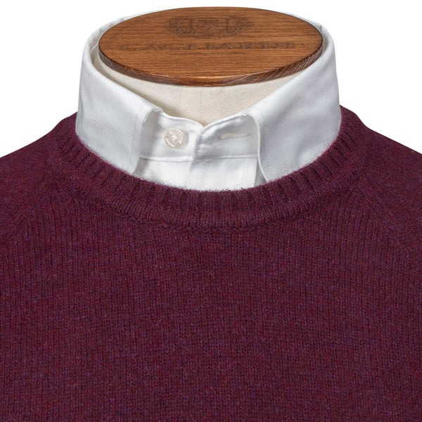 Dark Red Melange Raglan Crew Neck - Gagliardi