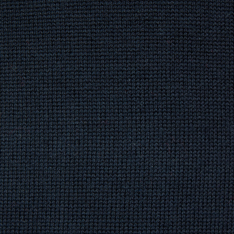 Navy Merino Wool Roll Neck