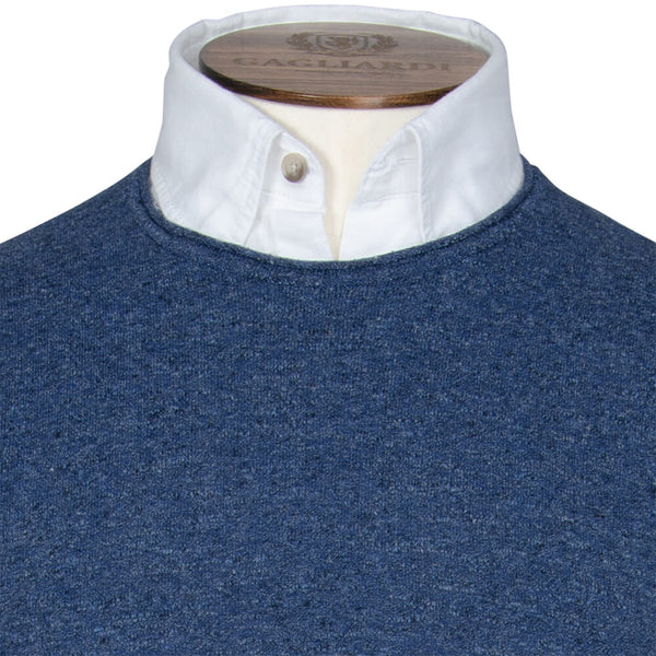 Blue Mini Roll Crew Neck - Gagliardi