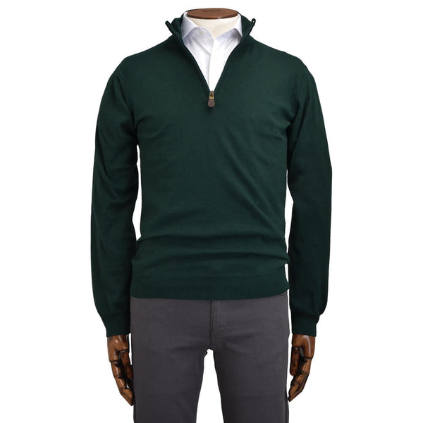 Green Zip Neck Jumper - Gagliardi