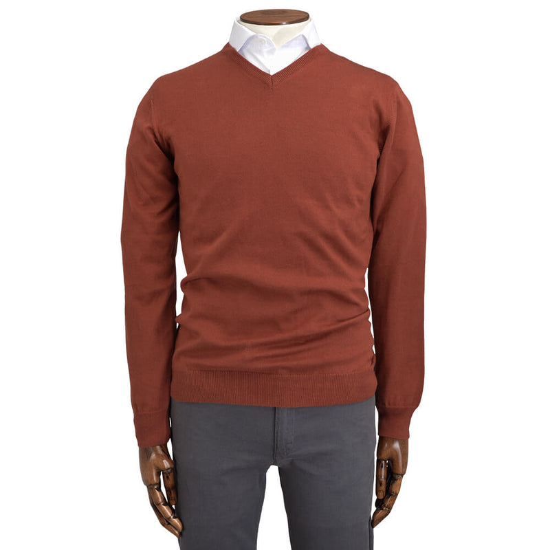 Orange V-Neck - Gagliardi