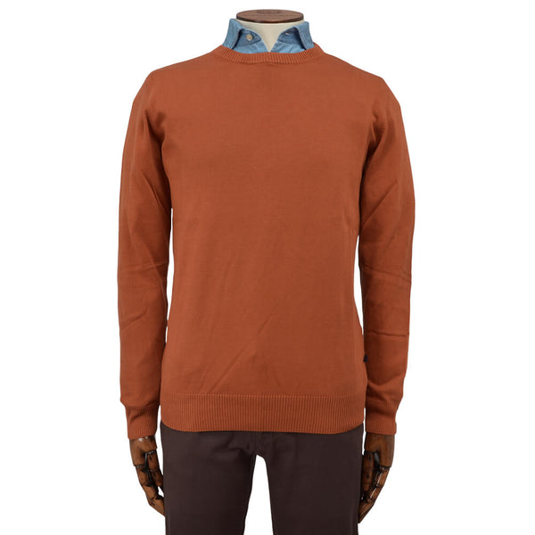 Orange Crew Neck Jumper - Gagliardi