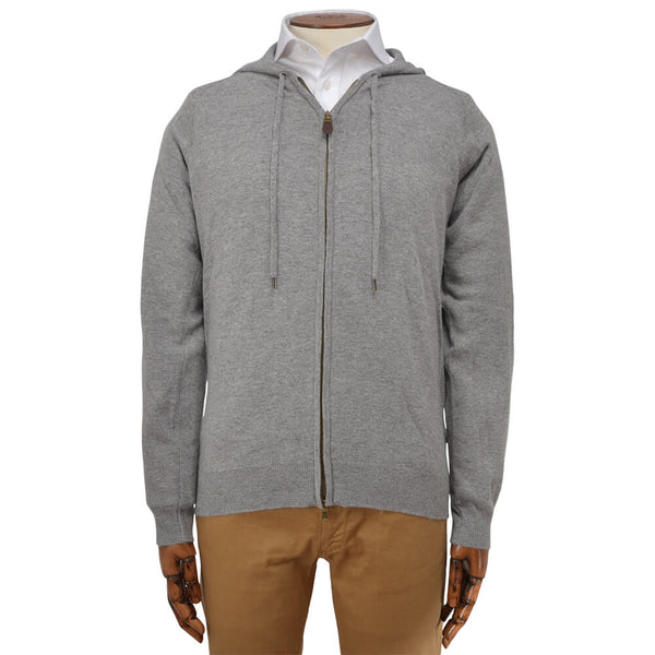 Silver Grey Zip Through Hoodie - Gagliardi