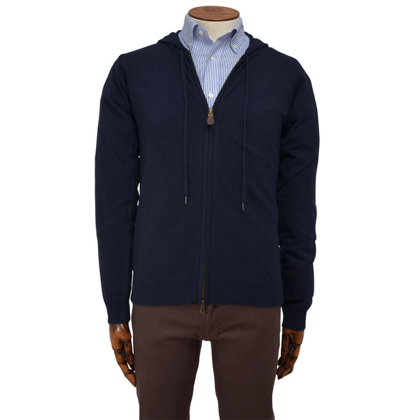 Navy Zip Through Hoodie - Gagliardi