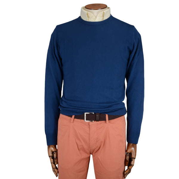 Blue Crew Neck Jumper - Gagliardi