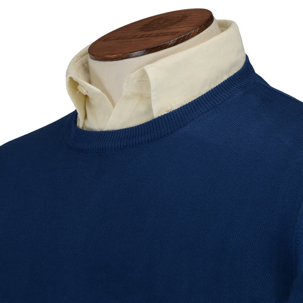 Blue Crew Neck Jumper