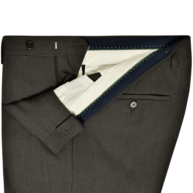 Charcoal Grey Plain Mix & Match Trousers - Gagliardi