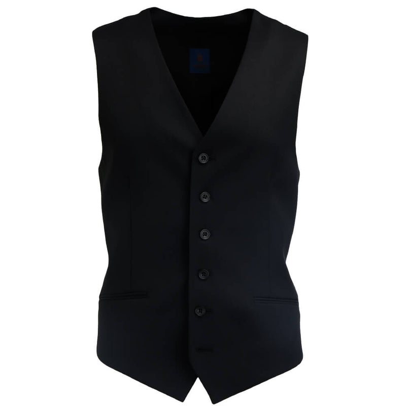 Black Plain Twill Mix and Match Waistcoat - Gagliardi