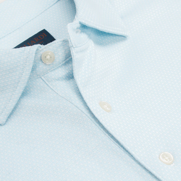 Sky Short Sleeve Honeycomb Jacquard Jersey Polo Top - Gagliardi