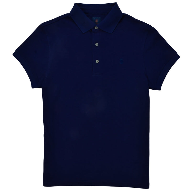 Navy Cotton Polo - Gagliardi