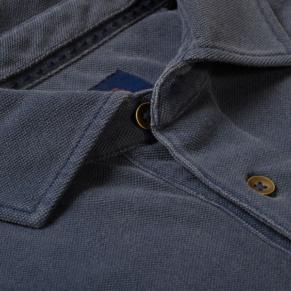 Indigo Cotton Polo - Gagliardi