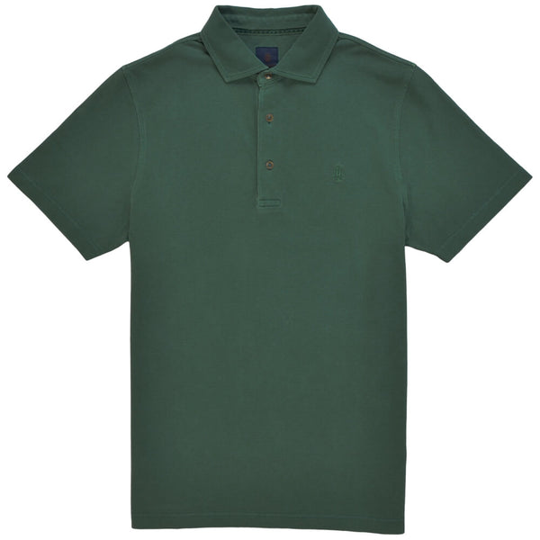 Green Cotton Polo - Gagliardi