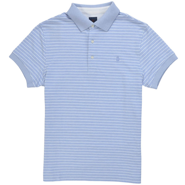 Sky Blue Cotton Polo - Gagliardi