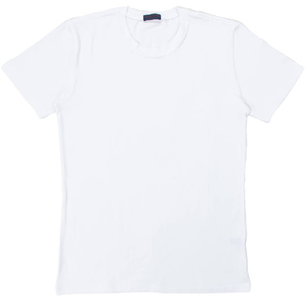 White Cotton Crew Neck - Gagliardi