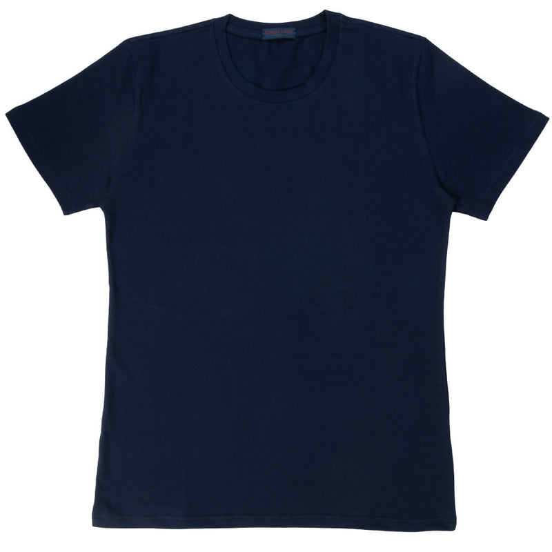 Navy Cotton Crew Neck - Gagliardi