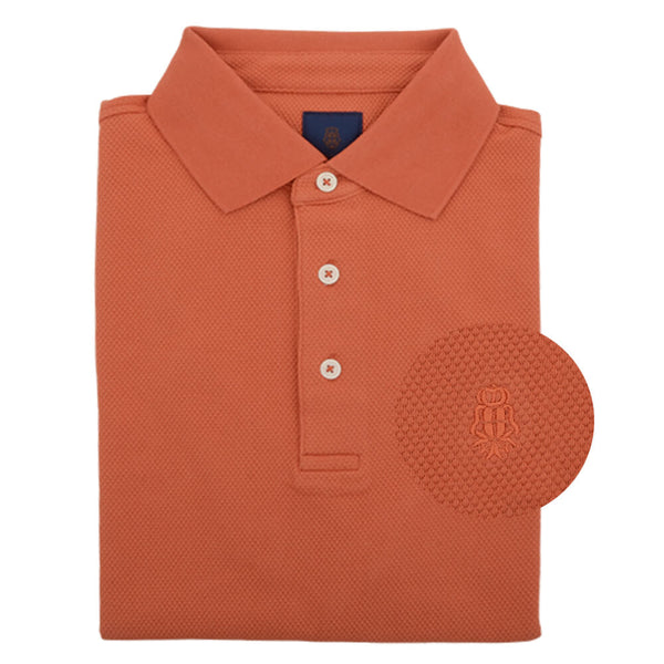 Orange Cotton Polo - Gagliardi
