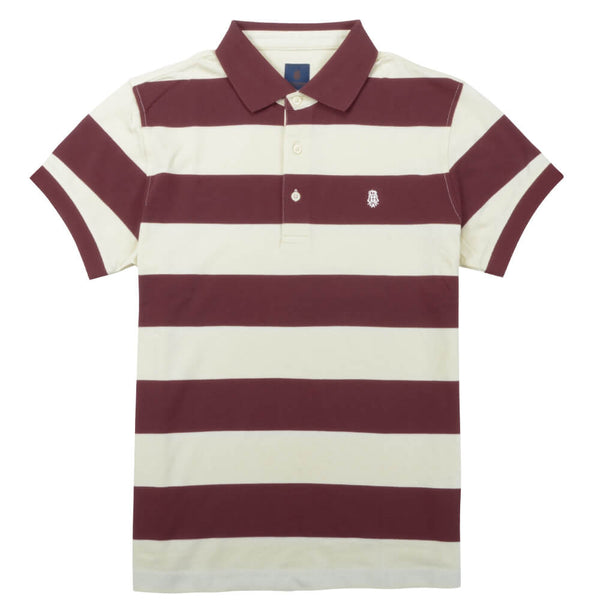 Red Stripe Cotton Polo - Gagliardi
