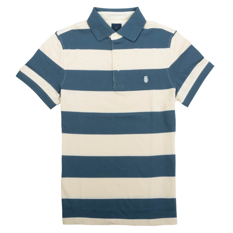 Blue Stripe Cotton Polo - Gagliardi